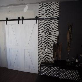 амбарные двери в стиле лофт фото