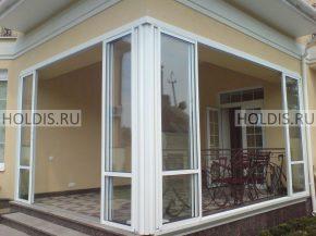 Раздвижные стеклянные двери для террасы