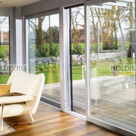 стеклянные двери на террасу фото