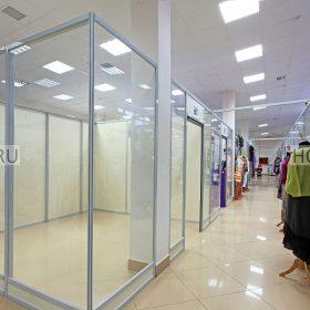 стеклянные перегородки для магазинов фото