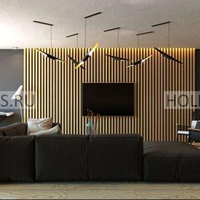 стеновая 3д панель из дерева фото